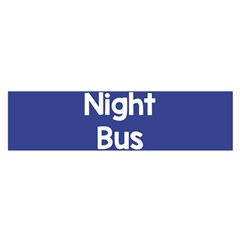 Night Bus New Blue Satin Scarf (oblong) by Mariart