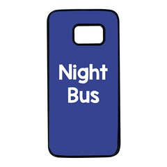 Night Bus New Blue Samsung Galaxy S7 Black Seamless Case by Mariart