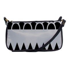 Noir Gender Flags Wave Waves Chevron Circle Black Grey Shoulder Clutch Bags by Mariart