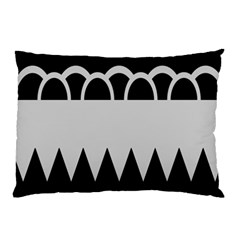 Noir Gender Flags Wave Waves Chevron Circle Black Grey Pillow Case (two Sides) by Mariart