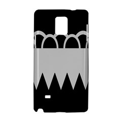 Noir Gender Flags Wave Waves Chevron Circle Black Grey Samsung Galaxy Note 4 Hardshell Case by Mariart