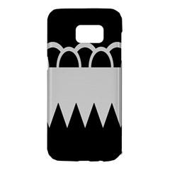 Noir Gender Flags Wave Waves Chevron Circle Black Grey Samsung Galaxy S7 Edge Hardshell Case by Mariart