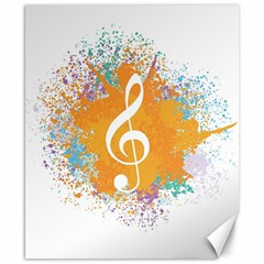 Musical Notes Canvas 8  X 10  by Mariart