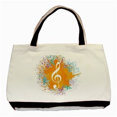 Musical Notes Basic Tote Bag (two Sides) by Mariart