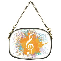 Musical Notes Chain Purses (one Side)  by Mariart