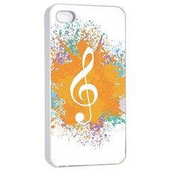 Musical Notes Apple Iphone 4/4s Seamless Case (white) by Mariart