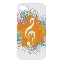 Musical Notes Apple Iphone 4/4s Hardshell Case by Mariart