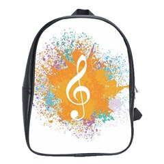 Musical Notes School Bags (xl)  by Mariart