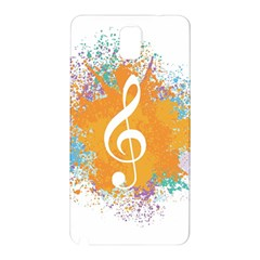 Musical Notes Samsung Galaxy Note 3 N9005 Hardshell Back Case by Mariart