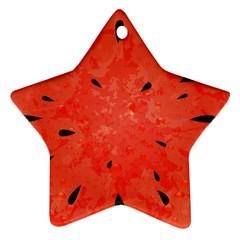 Summer Watermelon Design Ornament (star) by TastefulDesigns