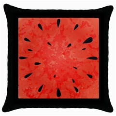 Summer Watermelon Design Throw Pillow Case (black) by TastefulDesigns