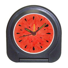 Summer Watermelon Design Travel Alarm Clocks by TastefulDesigns