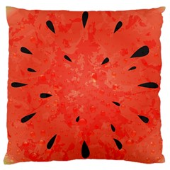 Summer Watermelon Design Large Cushion Case (two Sides) by TastefulDesigns