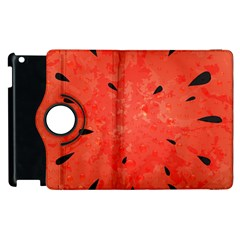 Summer Watermelon Design Apple Ipad 2 Flip 360 Case by TastefulDesigns