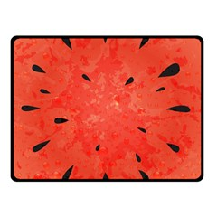 Summer Watermelon Design Double Sided Fleece Blanket (small)  by TastefulDesigns