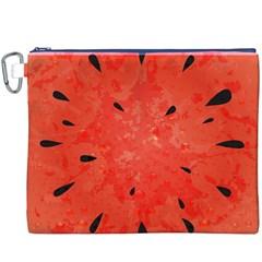 Summer Watermelon Design Canvas Cosmetic Bag (xxxl) by TastefulDesigns