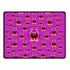 A Cartoon Named Okey Want Friends And Freedom Double Sided Fleece Blanket (small)  by pepitasart