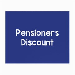 Pensioners Discount Sale Blue Small Glasses Cloth by Mariart