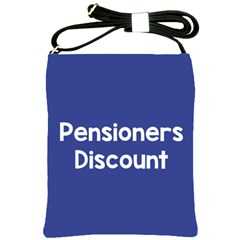 Pensioners Discount Sale Blue Shoulder Sling Bags by Mariart