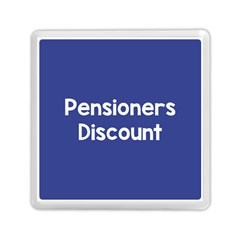 Pensioners Discount Sale Blue Memory Card Reader (square)  by Mariart