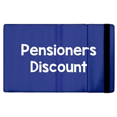 Pensioners Discount Sale Blue Apple Ipad 2 Flip Case by Mariart