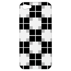 Plaid Black White Apple Iphone 5 Hardshell Case by Mariart
