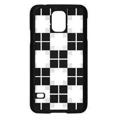 Plaid Black White Samsung Galaxy S5 Case (black) by Mariart