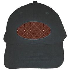 Coloured Line Squares Brown Plaid Chevron Black Cap by Mariart