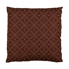 Coloured Line Squares Brown Plaid Chevron Standard Cushion Case (one Side) by Mariart