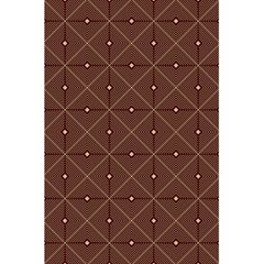 Coloured Line Squares Brown Plaid Chevron 5 5  X 8 5  Notebooks by Mariart