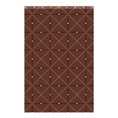 Coloured Line Squares Brown Plaid Chevron Shower Curtain 48  X 72  (small)  by Mariart