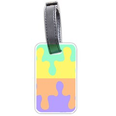 Puzzle Gender Luggage Tags (one Side)  by Mariart