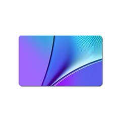 Line Blue Light Space Purple Magnet (name Card) by Mariart