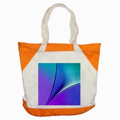 Line Blue Light Space Purple Accent Tote Bag by Mariart