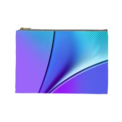 Line Blue Light Space Purple Cosmetic Bag (large)  by Mariart
