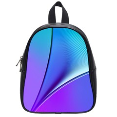Line Blue Light Space Purple School Bags (small)  by Mariart