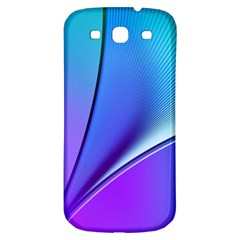 Line Blue Light Space Purple Samsung Galaxy S3 S Iii Classic Hardshell Back Case by Mariart