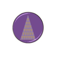 Pyramid Triangle  Purple Hat Clip Ball Marker (10 Pack) by Mariart