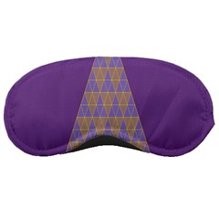 Pyramid Triangle  Purple Sleeping Masks by Mariart