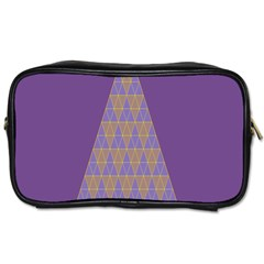 Pyramid Triangle  Purple Toiletries Bags by Mariart