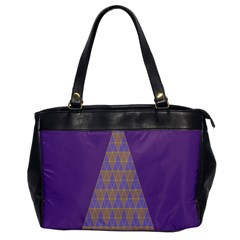 Pyramid Triangle  Purple Office Handbags by Mariart