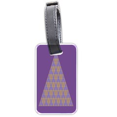 Pyramid Triangle  Purple Luggage Tags (two Sides) by Mariart