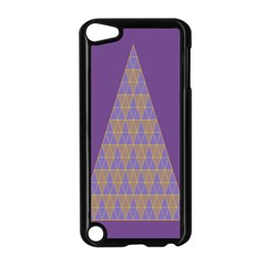 Pyramid Triangle  Purple Apple Ipod Touch 5 Case (black) by Mariart
