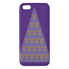 Pyramid Triangle  Purple Apple Iphone 5 Premium Hardshell Case by Mariart