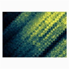 Polygon Dark Triangle Green Blacj Yellow Large Glasses Cloth (2 Side) by Mariart