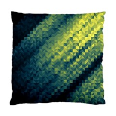 Polygon Dark Triangle Green Blacj Yellow Standard Cushion Case (two Sides) by Mariart