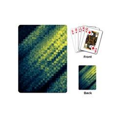 Polygon Dark Triangle Green Blacj Yellow Playing Cards (mini)  by Mariart