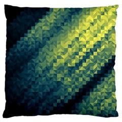 Polygon Dark Triangle Green Blacj Yellow Standard Flano Cushion Case (one Side) by Mariart