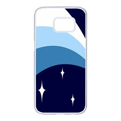 Star Gender Flags Samsung Galaxy S7 Edge White Seamless Case by Mariart