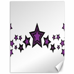 Star Purple Space Canvas 36  X 48   by Mariart